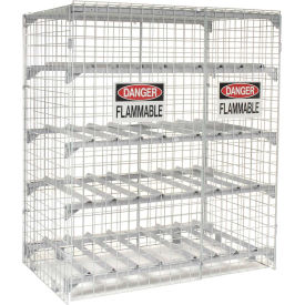 "FLAMMABLE STORAGE CABINETS- Red, Flammable Cabinet Style, 40 Cap. (gals.), No. of Shelves 1, No. Doors 1, 28 x 39 x 28"" Size W x H x D HPC-40-RD, FLAMMABLE STORAGE CABINETS, Safety Storage Cabinets, Flammable Material Cabinets, Drum Cabinet, Safety Cabinets, Safety Equipment, Flammable Storage, Acid Storage, Combustible Storage, Chemical Storage"