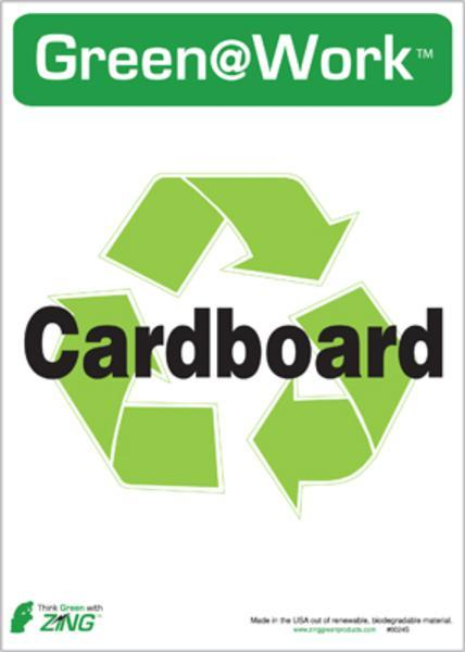 ZING Eco Label, Recycle Cardboard, Recycled Polystyrene Self Adhesive, 7Hx5W, 5/Pk