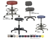 "ROUND STOOL CASTER SETS- Set of 5 casters, 2-1/4"" dia. for stools, Aluminum Base"