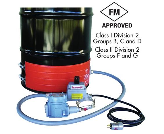 "HAZARDOUS-AREA DRUM HEATERS- For T3 Environments, Fits Drum Size 55, Fits Drum Diameter  22.3"", 240VAC, 1300 Watts"