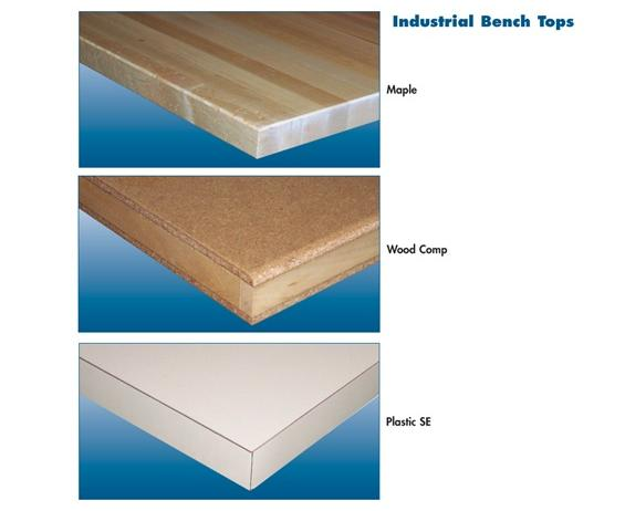 INDUSTRIAL BENCH TOPS- Wood Comp. - Series 26, 30 x 48""