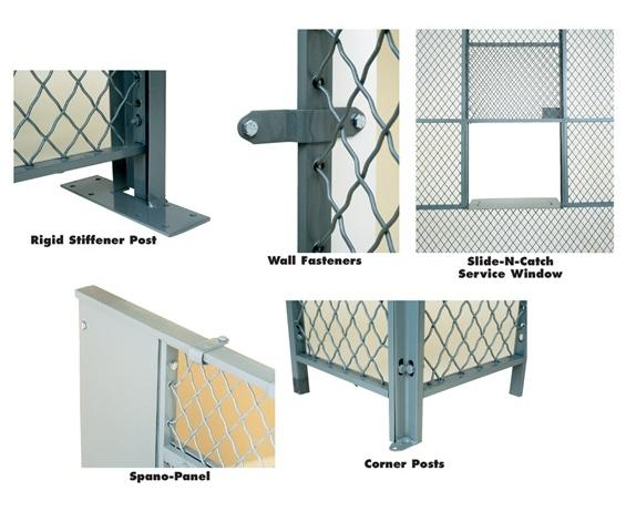 ACCESSORIES FOR WOVEN WIRE PARTITIONS- 9 high, Rigid Stiffener Post - Required for panel runs of 15 or more.