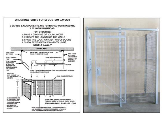 PRE-ENGINEERED WIRE CAGES- 4-Sided Wire Cage, 12 x 16 WxL