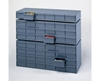 "DRAWER CABINETS- 11-3/4 x 11-5/8 x 10-7/8"" Overall Size WxDxH, No. of Drawers 6, 5-3/8 x 11-1/4 x 2-3/4"" Drawer Size WxDxH, Use with Extra Drawer Divider No. H010"