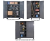 "12 GAUGE HEAVY DUTY STORAGE CABINETS- Janitorial Cabinet, 24 x 36 x 78"" Overall Size D x W x H, 950 Shelf Cap. (lbs)"