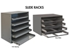 "COMPARTMENT BOX SLIDE RACKS- Large Slide Racks, Fits Boxes 2 Large, Easy Glide Slide Rack, 20 x 15-3/4 x 8-1/8"" Overall Size WxDxH"