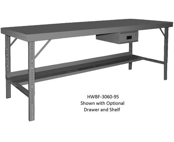 "OPTIONAL SHELVES FOR ERGONOMIC WORKBENCHES- 60 x 12"" Size WxD"