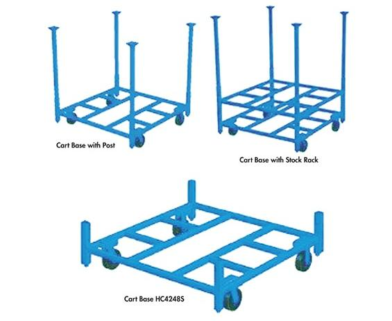 "STACKING RACK CARTS- 2000 Cap. (lbs), 36 x 60"" Size WxL"