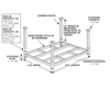 "PORTABLE STACKING RACKS - CORNER POSTS - Height above Deck I.D. 24"", Capacity (lbs) 2000"