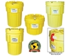 "ENPAC POLY-OVERPACK® 95, 65, 30 AND 20 GALLON SALVAGE DRUMS- Enpac Poly-Overpack™ (Meets UN regulations), Cap.(gals.) 65, Ratings UN 1H2/X200/S, DOT 40 CFR 173.3, Dia. Top/Bottom 28.5""/23"", Height 37"""