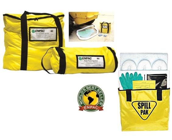 "ENPAC BAG-STYLE SPILL KITS- Spill Pakâ""¢, Oil only, Absorbs up to 5 gals."
