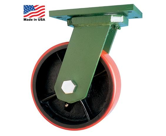"EXTRA HEAVY-DUTY CASTERS- 10 x 3"" Wheel Size, 2900 Cap. (lbs), 12-1/2"" O.A. Height, Phenolic/Canvas - Rigid Caster Type"