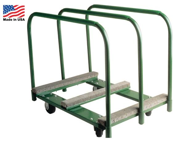 "PANEL MOVER- Deck Size 28 x 38"", 1400 Cap. (lbs), Rubber Mold-On, 35-1/2"" Overall Height, 9"" Deck Height, 5 x 2"" Wheel Size"