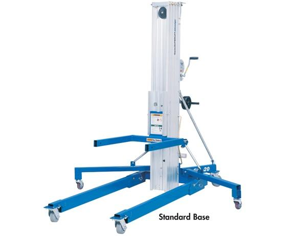 "THE GENIE® SUPERLIFT ADVANTAGE®- Straddle Base Style, 800 Cap. (lbs) 18"" Load Center, 16 4"" Lift Height, 14 7-1/2"" Flat Forks Lift Height, 78-1/2"" Height Stowed, 31-1/2"" to 58"" Width-Min or Range, 29"" Length Stowed, 2"" Ground Clearance"