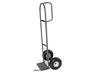 "HEAVY-DUTY D-HANDLE TRUCK- 10"" Pneumatic Wheels, 800 Vertical postion (200 w/extension) Load Cap. (lbs)"