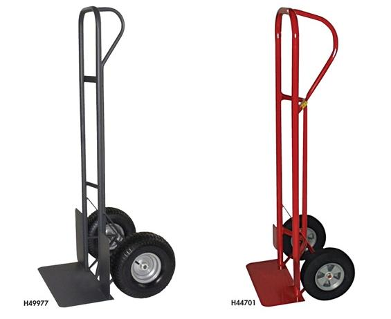 "INDUSTRIAL DUTY P-HANDLE TRUCK- 10"" Puncture Proof Wheels, 8 x 18"" Toe Plate, 1000 Load Cap. (lbs)"