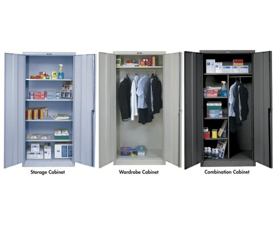 "HALLOWELL 800 SERIES HEAVY-GAUGE KD CABINETS- Wardrobe Cabinet, Platinum-Antimicrobial, Assembled, 36 x 24 x 78"" Size WxDxH"