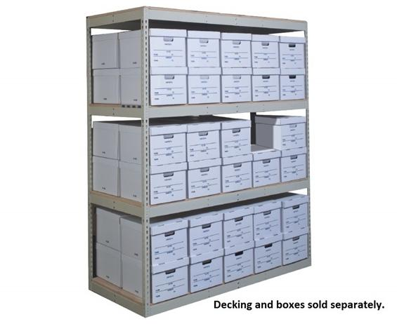 "RECORD STORAGE SHELVING- Adder Unit, 4 Shelves, 69 x 15 x 84"" Size WxDxH, 1050 Cap. (lbs)"