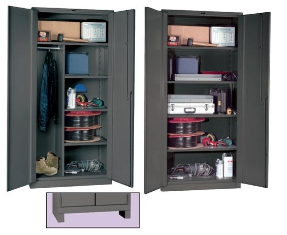"DURATOUGHâ""¢ ALL-WELDED CABINETS- Classic Series, Extra Heavy-Duty, Combination Cabinet Style, 48 x 24 x 78"" Size WxDxH, 4 Shelves"