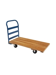 "ALL WOOD DECK TRUCK- 30 x 60"", 5"" Rubber on Steel"