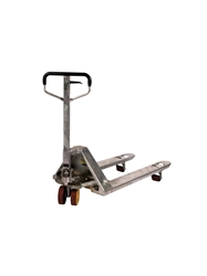 STAINLESS STEEL & GALVANIZED PALLET TRUCKS- Galvanized, 27 x 48""