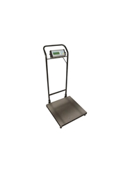 DIGITAL BENCH SCALE WITH HANDTRUCK STYLE PORTABILITY- 75 lb. x 0.02 lb./35 kg. x 10 g. <BR>1200 oz. x 0.5 oz./74 lb.:16 oz. x 1 oz., 20 x 20""