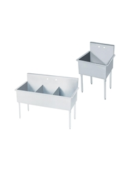 "STAINLESS STEEL SINKS- 24 x 60 x 41"", 3 Compartment"