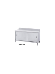 "ENCLOSED BASE WORKTABLES- With 5"" Backsplash, Sliding Doors, 30 x 72 x 35-1/2"""