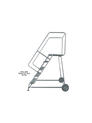 "ALUMINUM LADDERS-WHEELBARROW STYLE- Solid Ribbed Tread, 90"" Top Height, 123"" Overall Height"