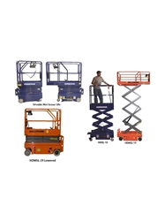 "DRIVABLE AND PUSH-ABLE SCISSOR LIFTS- Push-Able, 500 Cap. (lbs), 12 9"" Platform Max Height"