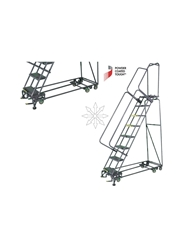 "PIVOTING ALL DIRECTION LADDERS- 24"" Tread Width, Expanded Metal, 133"" Overall Height"