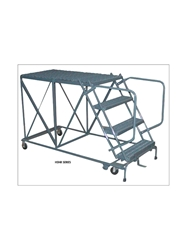 "800 LBS. CAPACITY WORK PLATFORMS- Double Entry with Platform Handrails, 48"" Platform Length, 40"" Height"