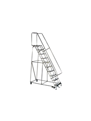 "STAINLESS STEEL - LOCKSTEP LADDERS- Perforated Step, 70"" Top Height, 103"" Overall Height"