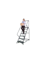 "50° SLOPE WALK DOWN LADDER- Expanded Metal, 103"" Overall Height"