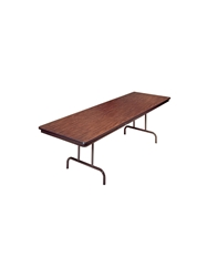 PEDESTAL FOLDING TABLE- Walnut/Brown, 18 x 60""