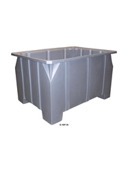 "STACKING PALLET CONTAINERS- 48 x 36 x 28"", 1000 Cap. (lbs), Gray"