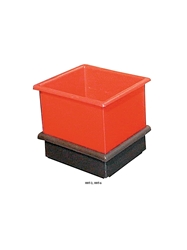HEAVY-DUTY MOLDED PLASTIC CONTAINERS- Stacks with HHT-3, 11-1/2  x 10 x 7""
