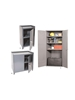 "ALL WELDED STORAGE CABINETS- Photo Letter No. A, No. of Shelves 1 fixed, 24 x 24 x 33-5/8"" Overall Size WxDxH"