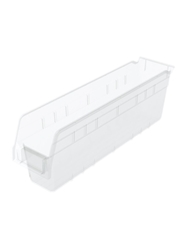 CLEAR SHELFMAX® BINS-17-7/8 x 4-1/8 x 6""