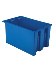 "NEST AND STACK TOTES-Blue, 23-1/2 x 15-1/2 x 12"", Cap. Cu. Ft. 1.7"