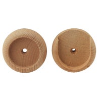 408DI Do it Rod Socket 408DI, Do it 1-3/8 In. Wood Closet Rod Socket, Natural (2-Pack)