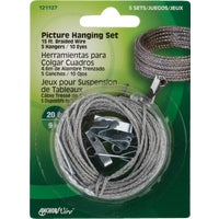 121127 Hillman Anchor Wire 20 Lb. Capacity Picture Hanging Kit 121127, 20 lb Picture Hanging Kit