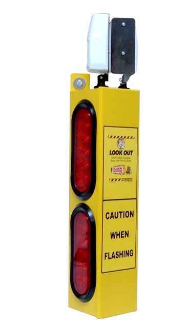 Look Out 2 Audible- Rack/Wall Mount - Collision Awareness Look Out 2 A, Collision Awareness, Collision Safety, Safety Products, Forklift Safety, Warehouse Safety, Collision Awareness, Dock Safety, Dock Awareness, Hall Collision, Office Collision