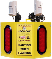 Look Out 3 - Rack Mount - Collision Awareness Look Out 3 R, Collision Awareness, Collision Safety, Safety Products, Forklift Safety, Warehouse Safety, Collision Awareness, Dock Safety, Dock Awareness, Hall Collision, Office Collision