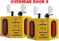 Overhead Door 4 - Collision Awareness Overhead Door 4, Collision Awareness, Collision Safety, Safety Products, Forklift Safety, Warehouse Safety, Collision Awareness, Dock Safety, Dock Awareness, Hall Collision, Office Collision, Door Monitor