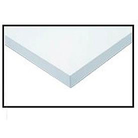 "607292-96"" W x 30"" D x 1-1/4"" Thick, ESD Square Edge Workbench Top, White"