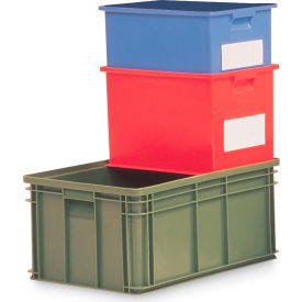 "1464.080605BL1 Schaefer Stacking Transport Container 14/6-4 PL - 8-5/16""L x 6""W x 4-13/16""H - Blue"