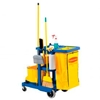 FG617388BLUE Rubbermaid; Janitor Cart Blue with 25 Gallon Vinyl Bag 6173-88