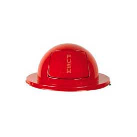 FG1855RD Rubbermaid; FG1855RD Steel 55 Gallon Self-Closing Dome Drum Top - Red