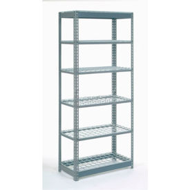 "255521 Heavy Duty Shelving 36""W x 18""D x 84""H With 6 Shelves, Wire Deck"